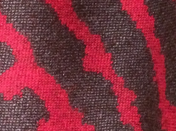 Charcoal and Magenta wool swatch
