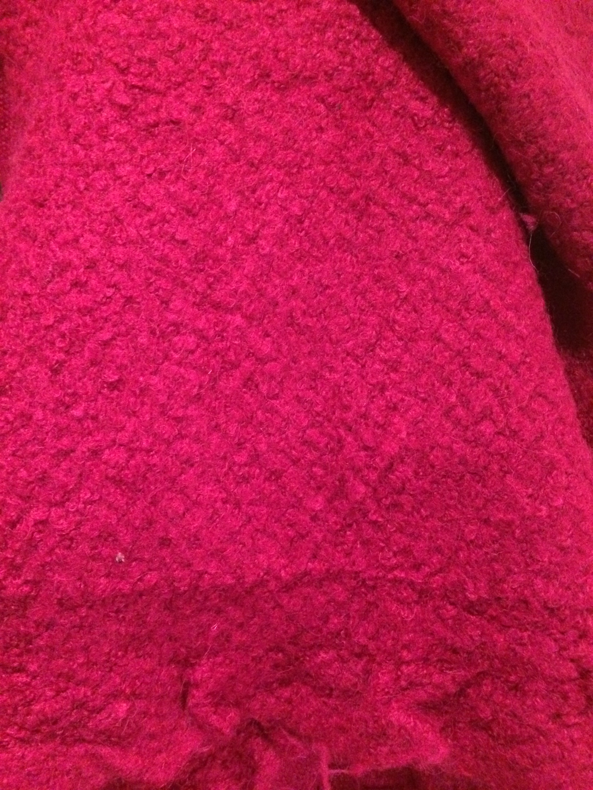Pink boucle remnant