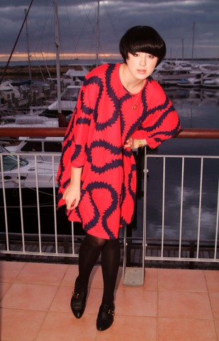 Vivienne Westwood Squiggle fabric coat