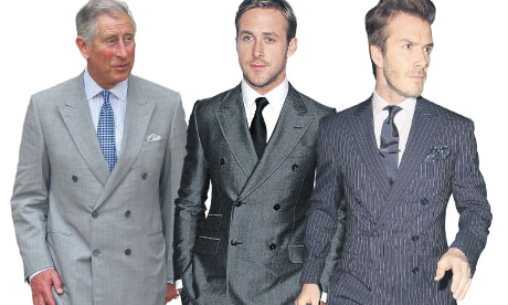 Prince Charles, Ryan Gosling and David Beckham in DB suits