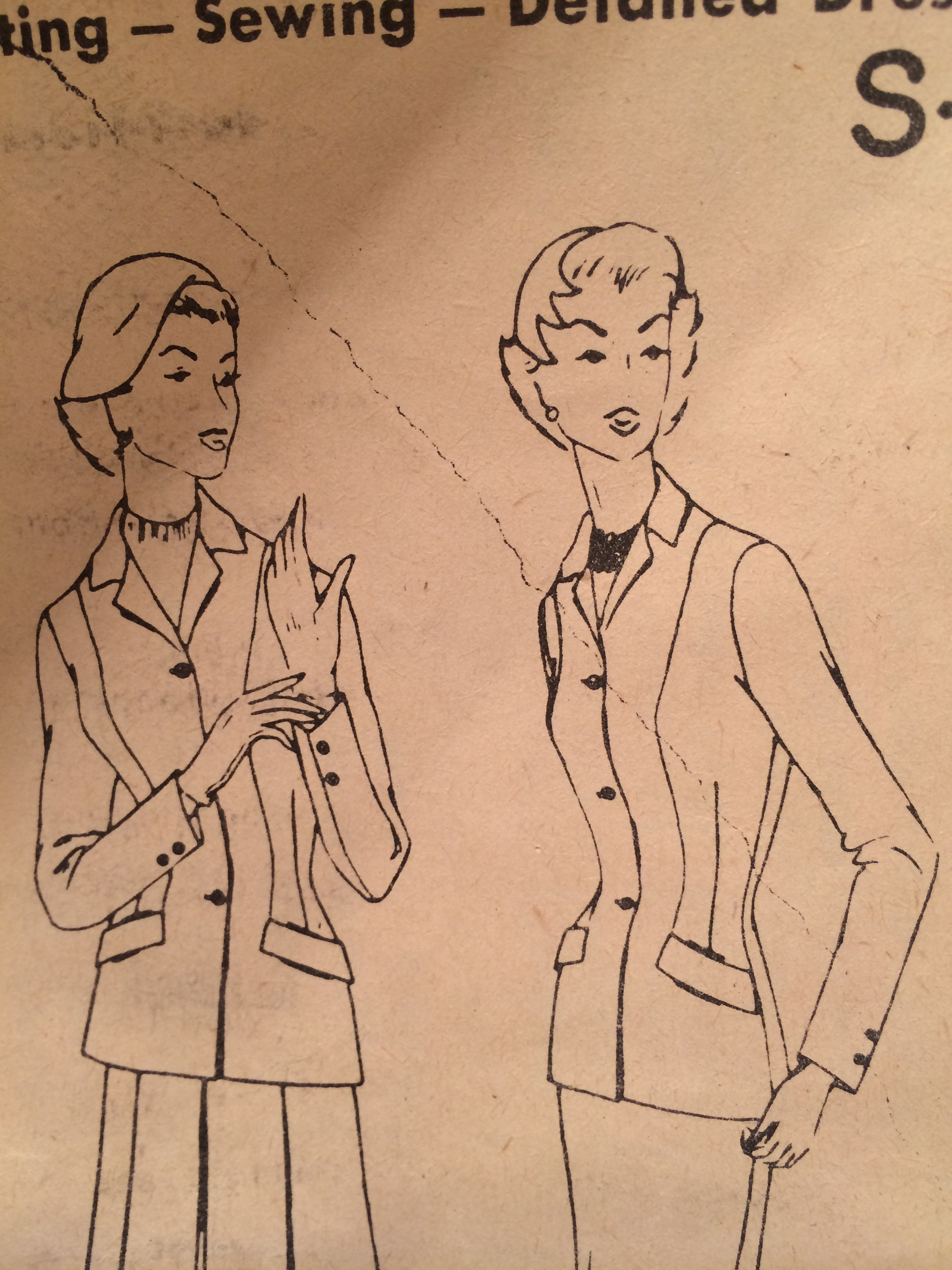 Making a 1950s jacket – collar,  sleeves and lining