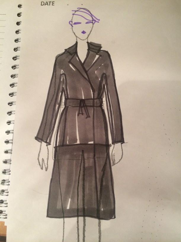 Kate's Kimono - drawing