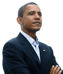 Barack Obama suit no tie