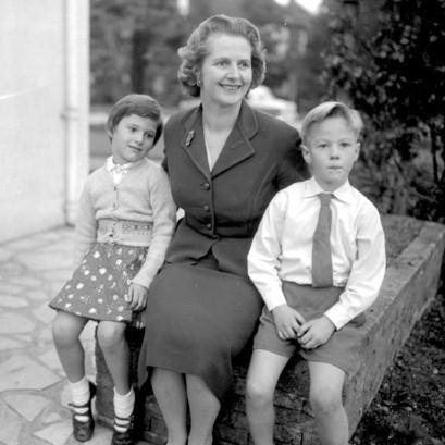 Mrs Thatcher in 1958 suit