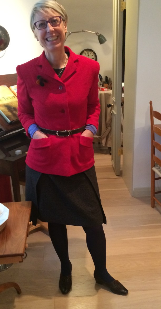 Simplicity 100 jacket in red polyester
