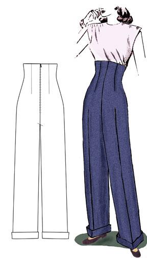 1940s trouser pattern
