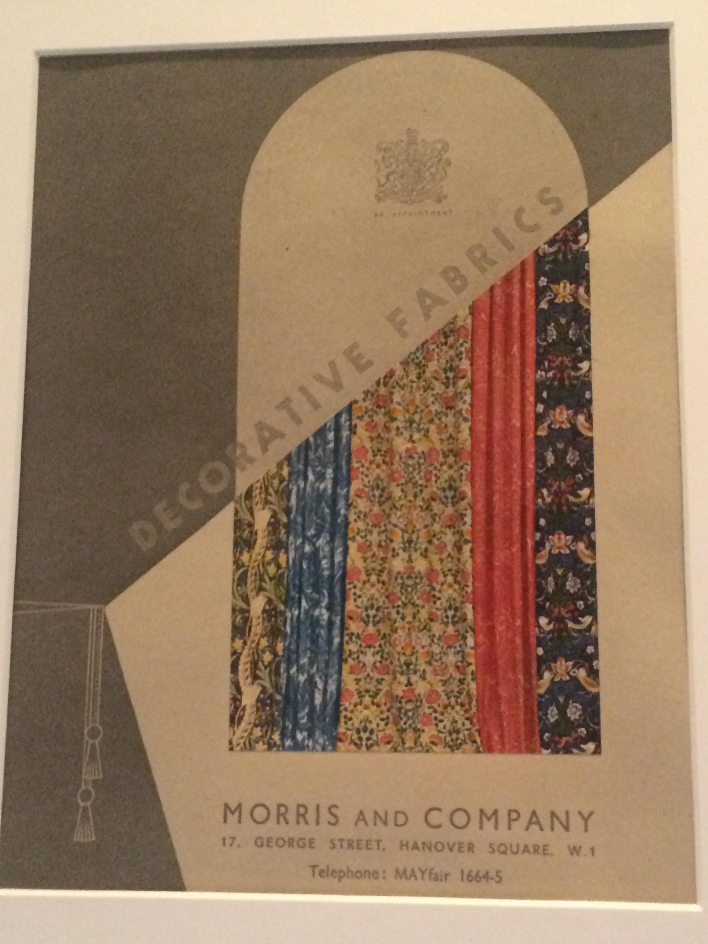 advert for the fabrics