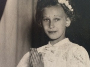 Girl first Communion in Slovakia