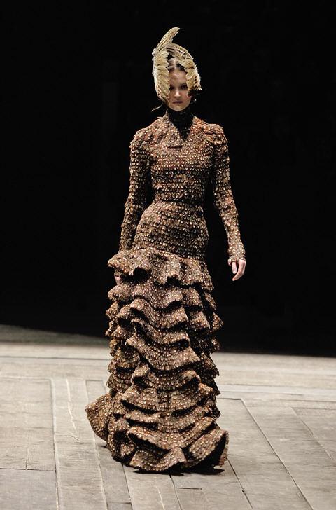 Pheasant feather dress