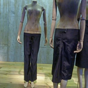 Bumster trousers and skirt