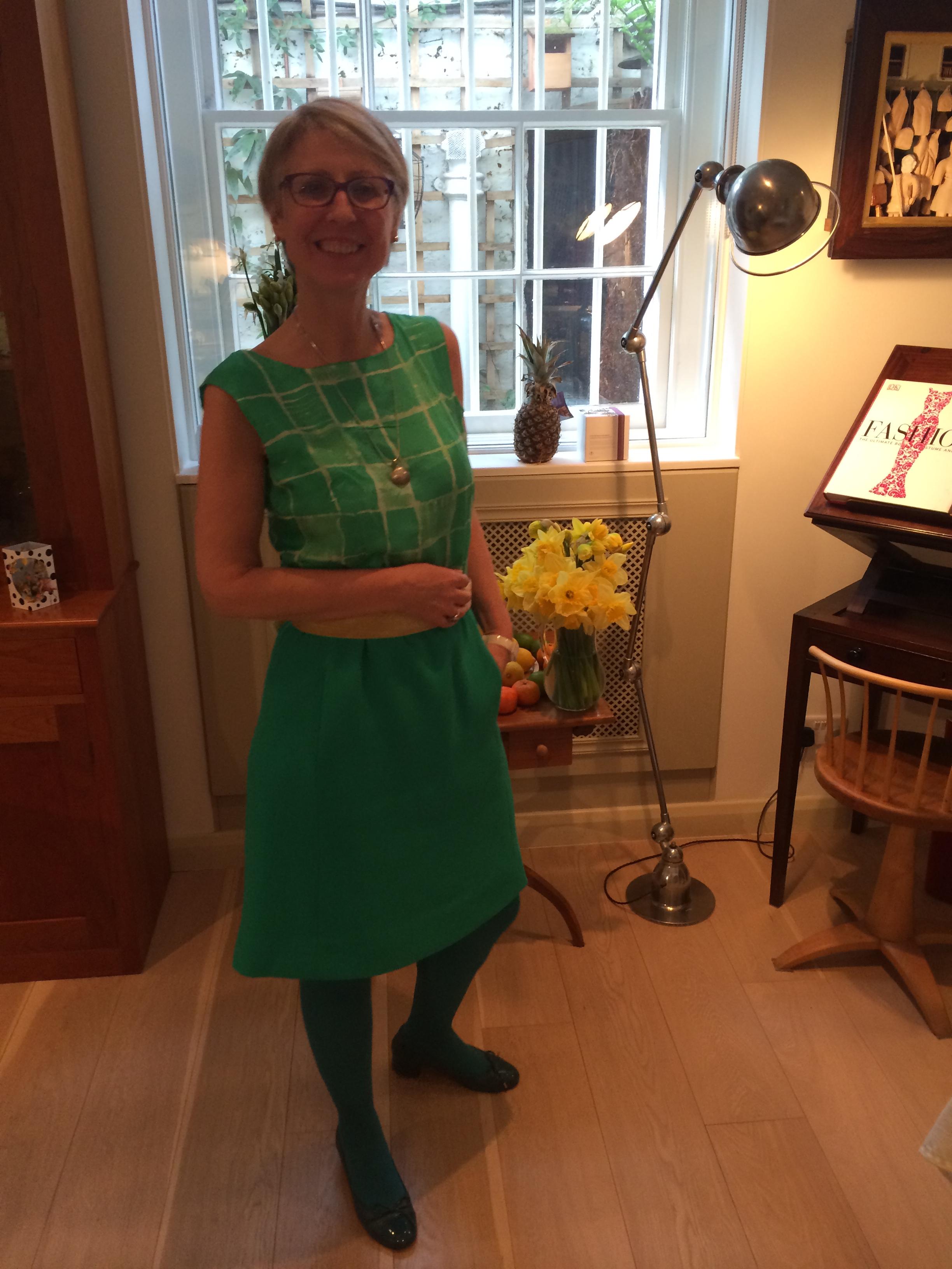 Vogue 1650 (green) as a dress