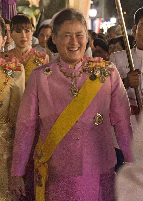 Princess Maha Chakri Sirindhorn in Pink