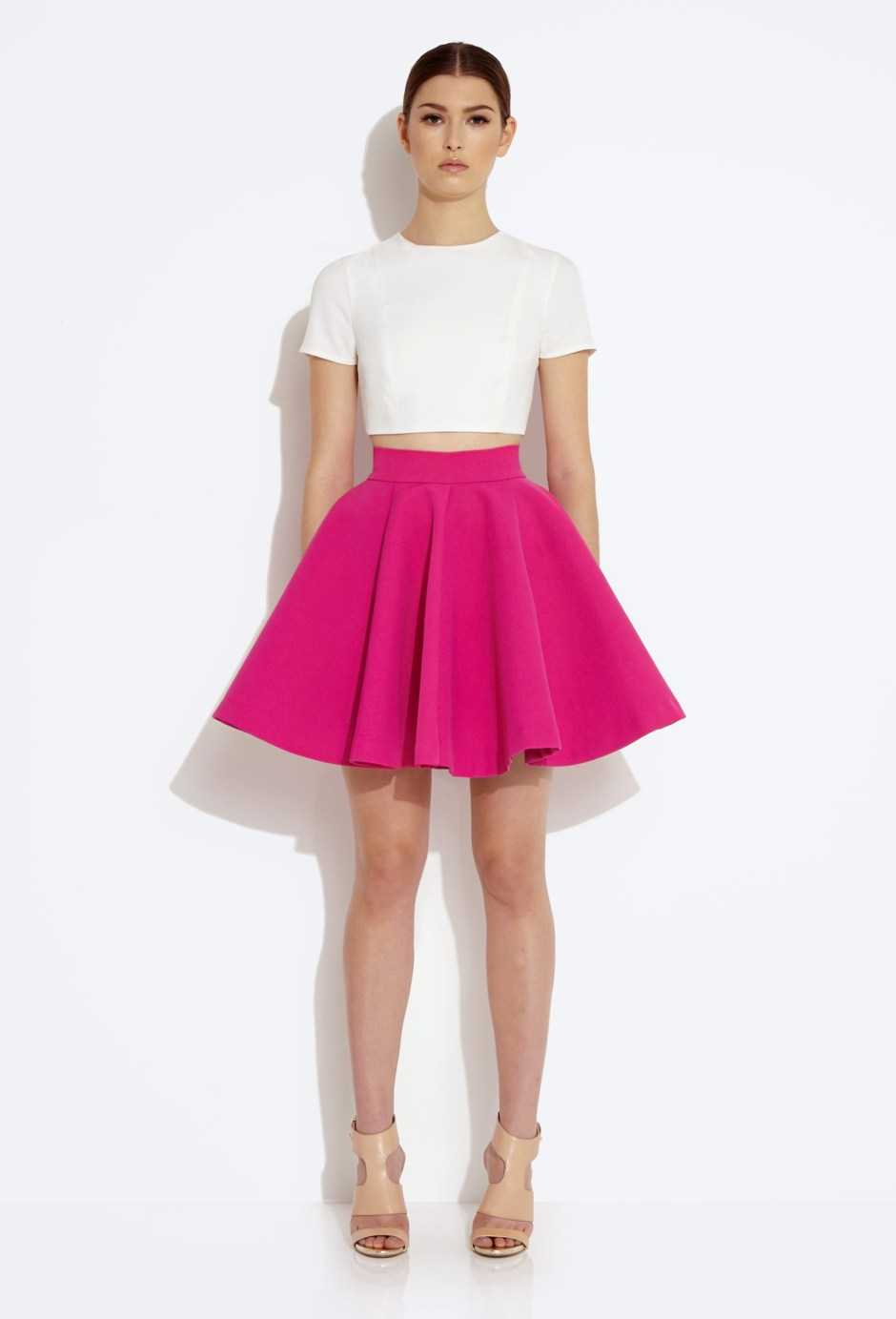 Pink neoprene circle skirt