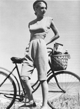McCardell woman with bicyle