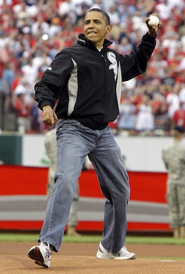 "Obama in ""Dad"" jeans"