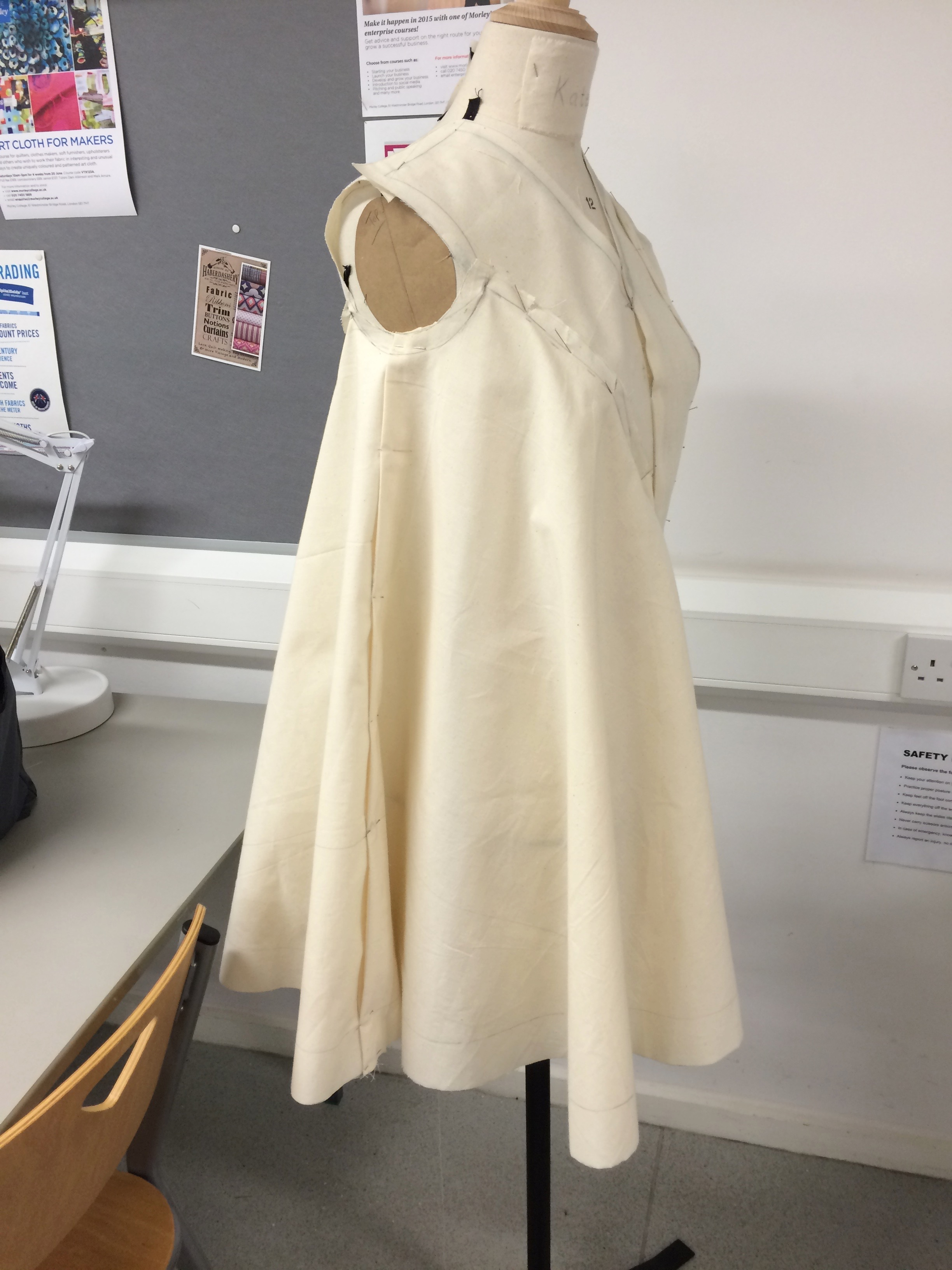 Draped dress (front view)