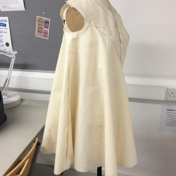 Draped dress (front view)