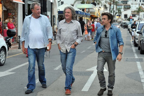 """Top Gear"" presenters in bad jeans"
