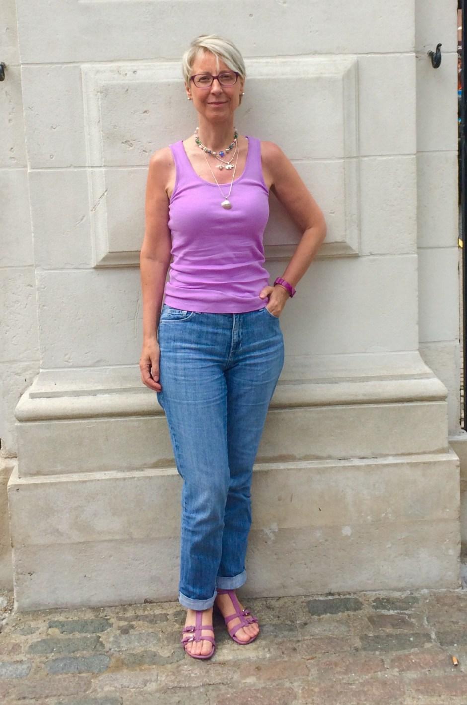 M&S violet vest Fabrickated