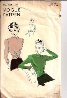 1940s blouse 8526