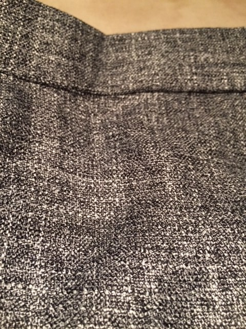 close up of grey marl silk fabric