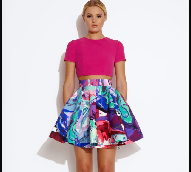 Neoprene circle skirt