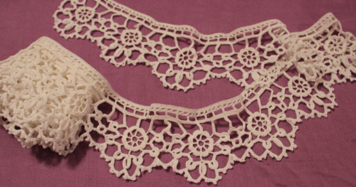 Victorian crochet lace