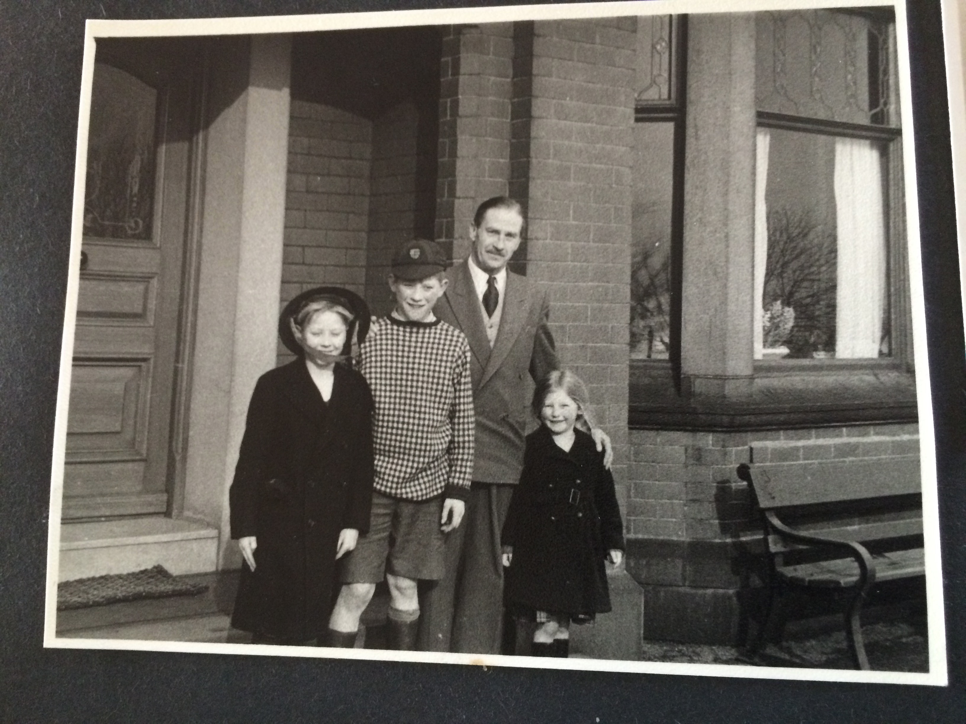 Uncle Teddy with Clive, David and Jane c1956
