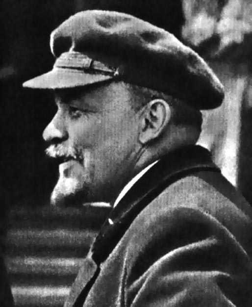 VI Lenin in workers hat