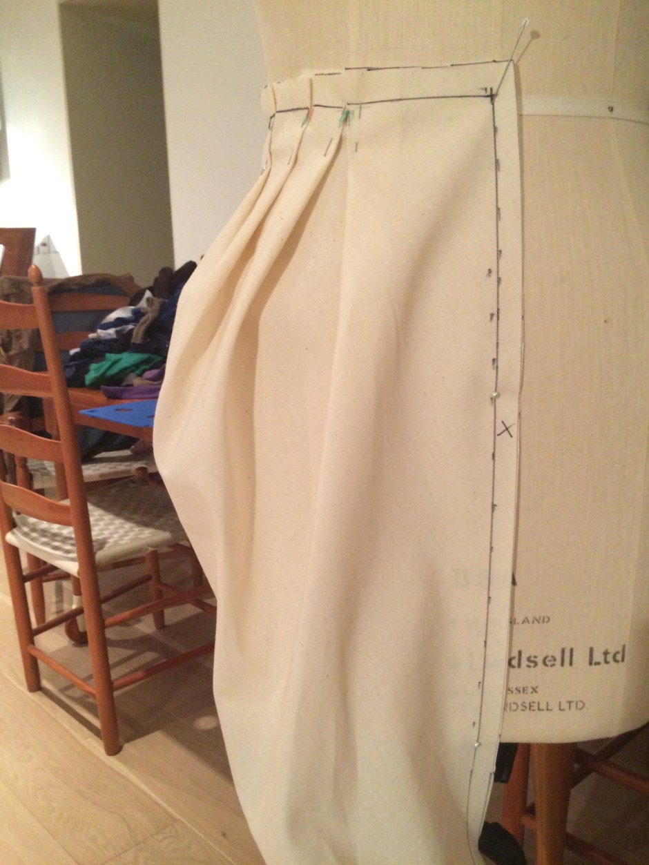 Draping a peg skirt 9.