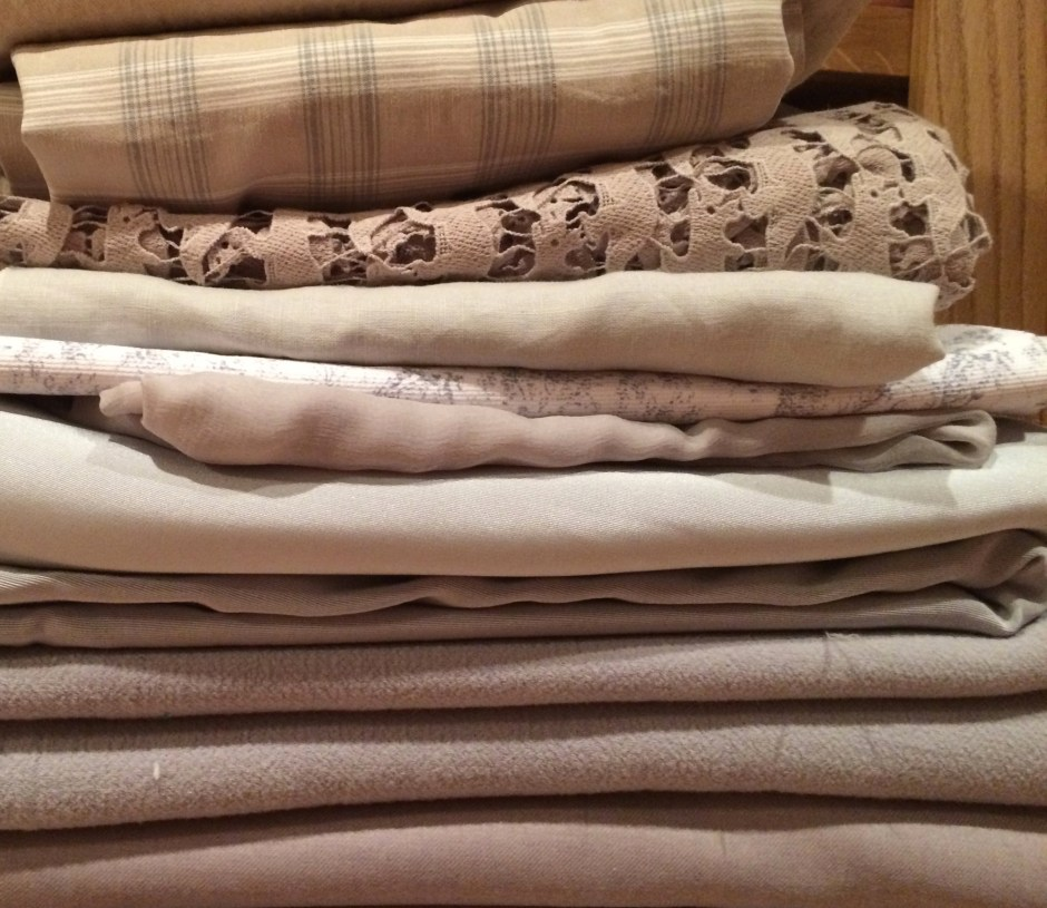 selection of neutral fabrics