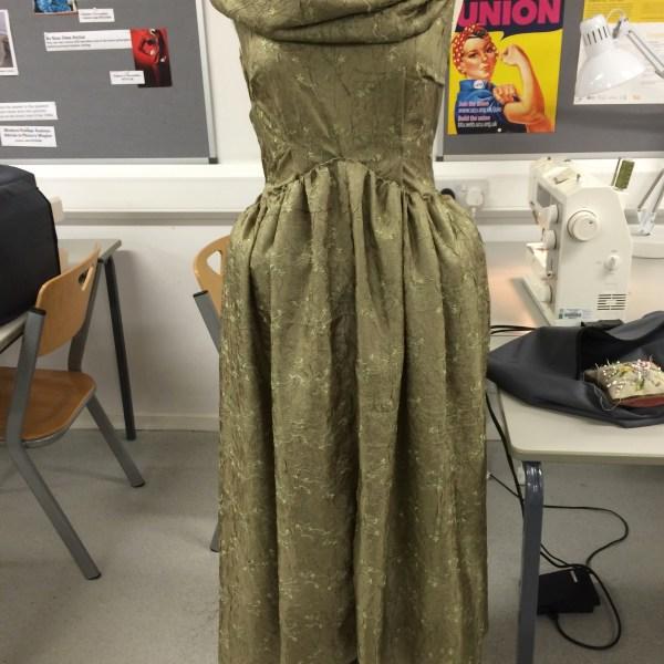 Draped Croissant dress