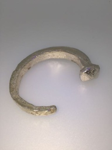 Silver Bracelet made from ancient Scottish nail Jill Bell