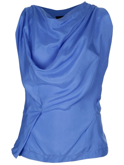 Westwood asymetric cowl blouse