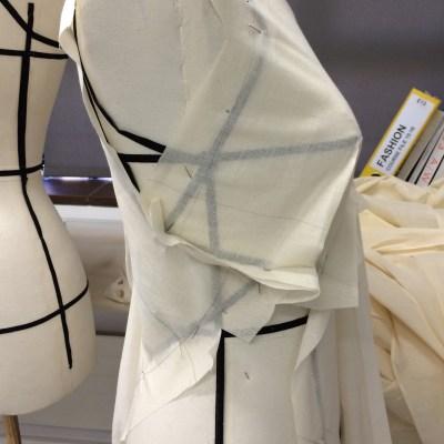 Bias drape - wrap around at under-bust
