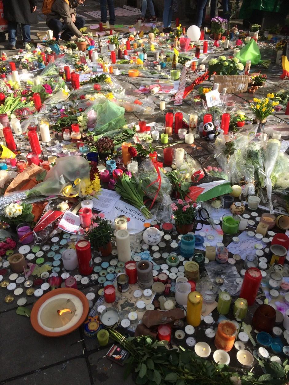 Makeshift memorial, Brussels