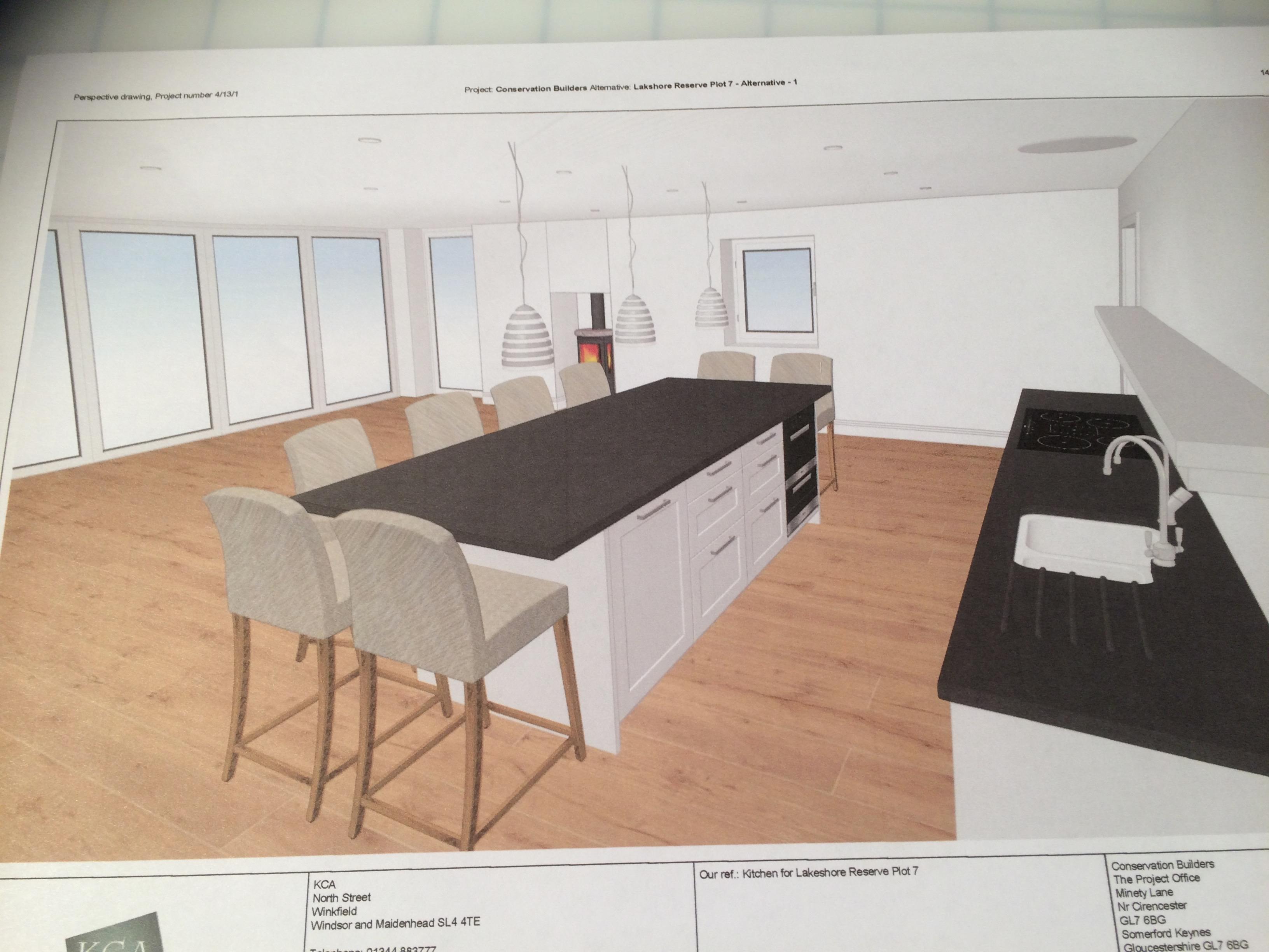 Kitchen design from side