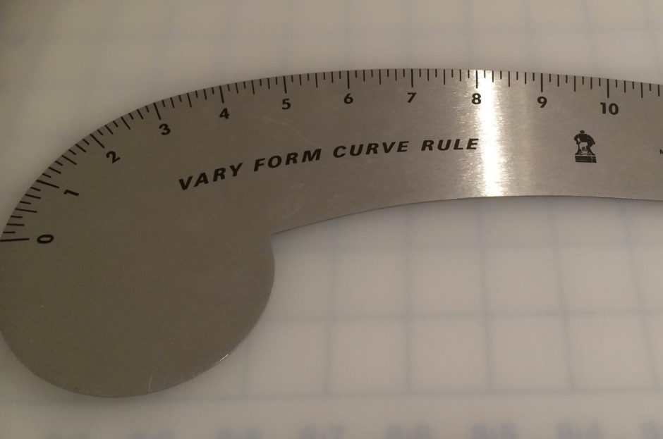 Neck curve ruler