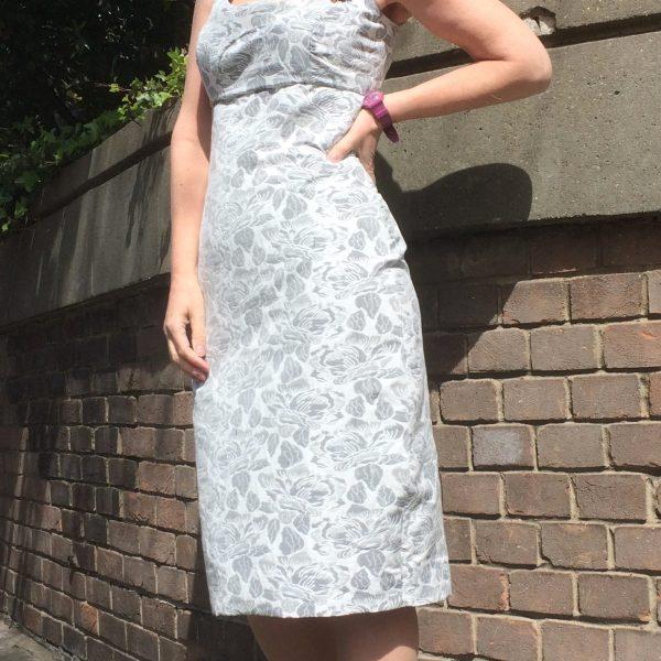 Self drafted princess line bodice dress