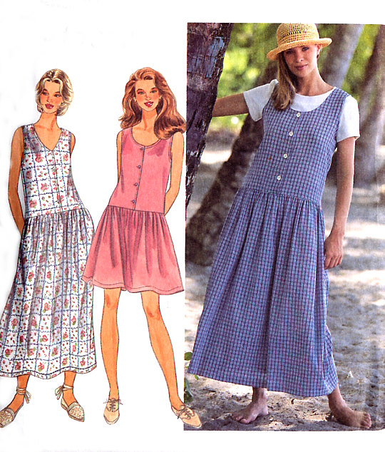Dropped waist dress: