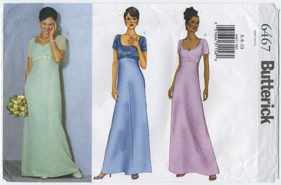 Empire line dress: Butterick 6467