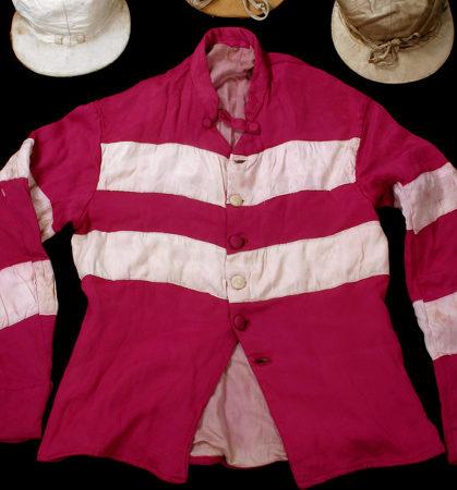 Vintage hooped jockey silk jacket