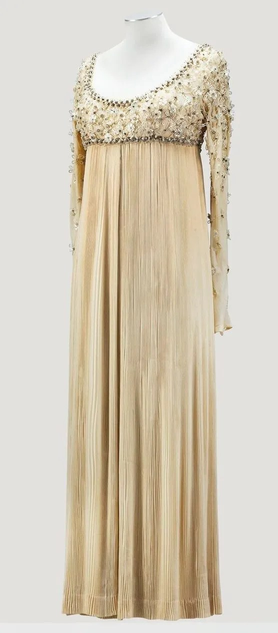 1968 Valentino Empire line evening dress