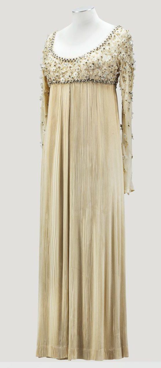 1968 Valentino Empire line evening dress