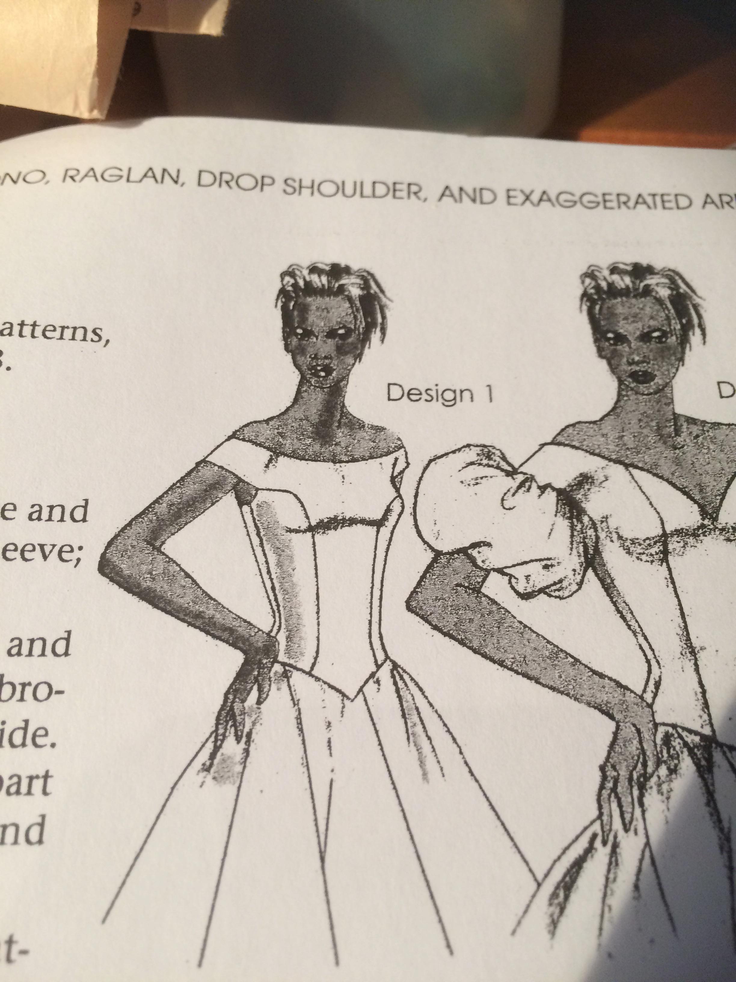 Dropped shoulder designs