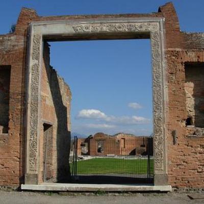 The doorway of the Eumachia building