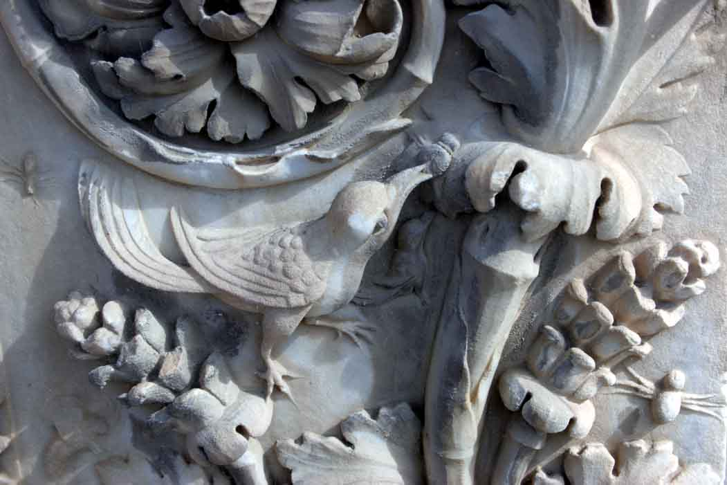 Close up of amazing carving on doorway