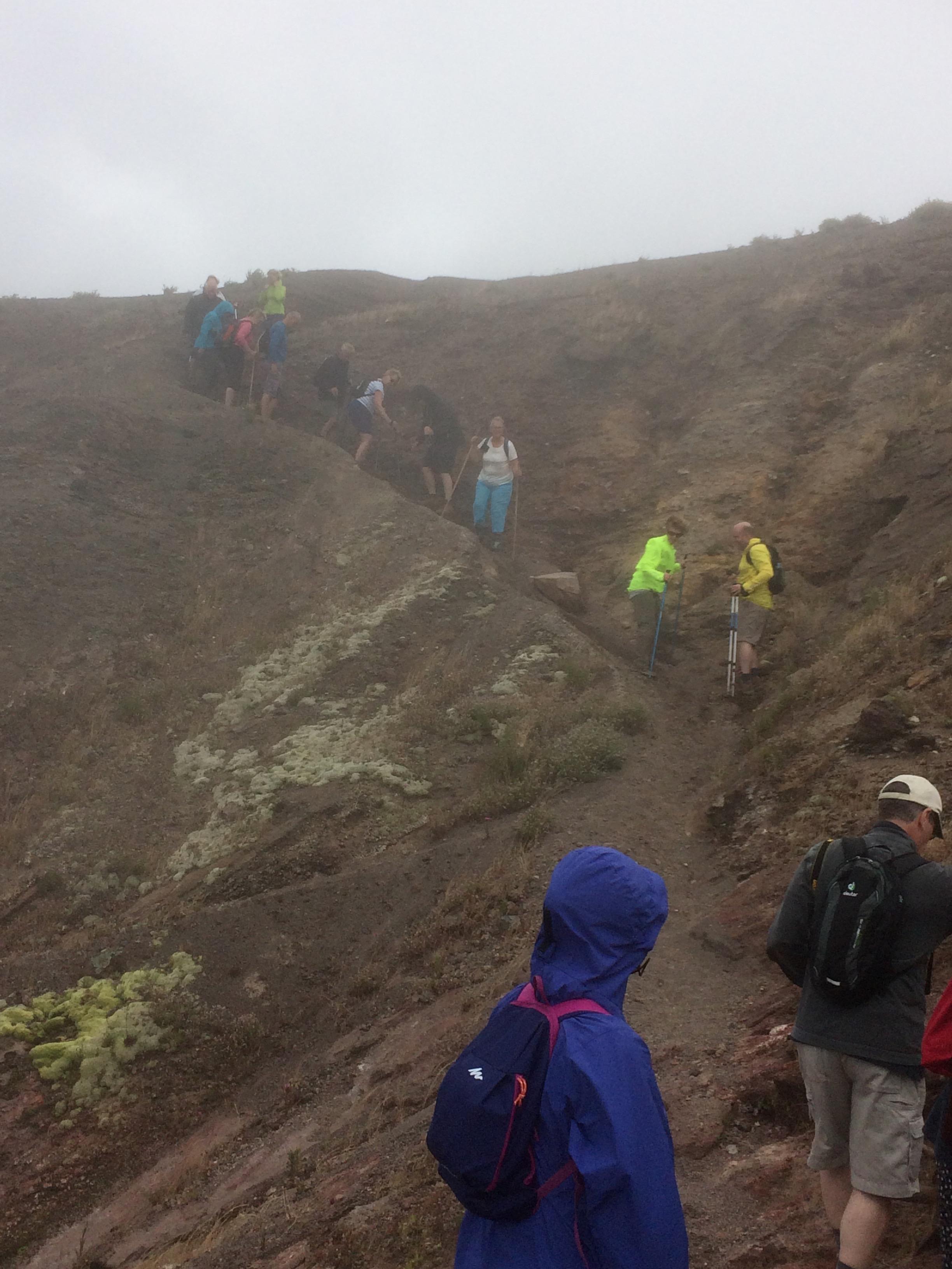 Walking into Vesuvius,