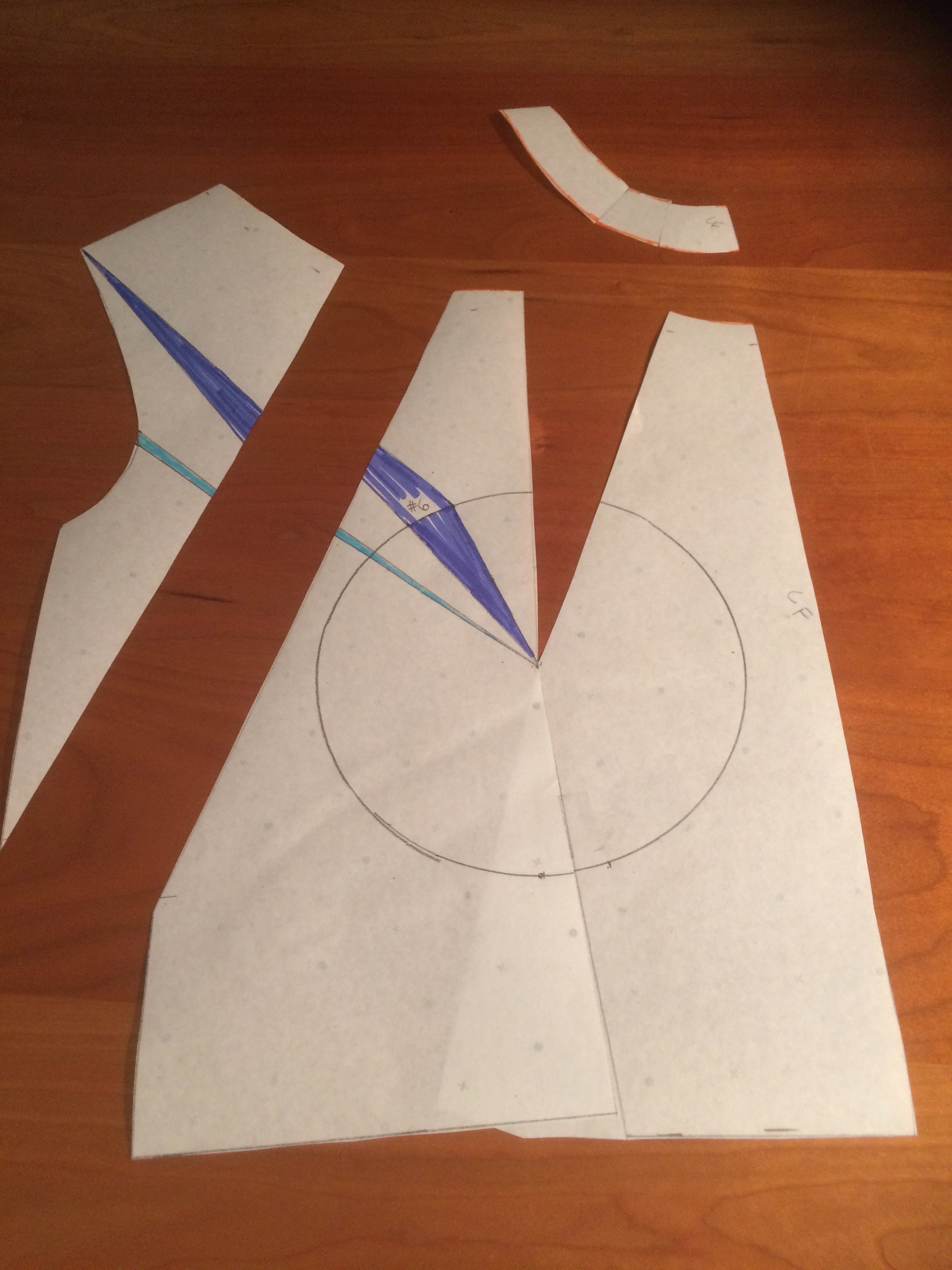 Transfer waist dart and create halter style line