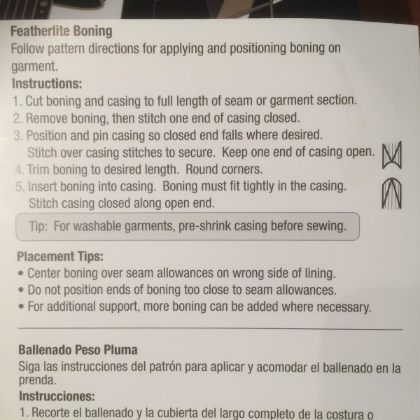 Instructions on using Featherlight boning